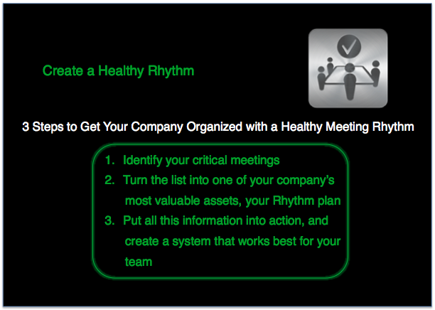 Rhythm Systems Meeting-How to Create a Healthy Rhythm for Your Company