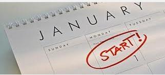 Annual Planning January Calendar