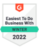 G2 Badge Easiest to do Business with Fall 2021