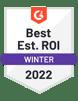 G2 Best ROI Fall 2021