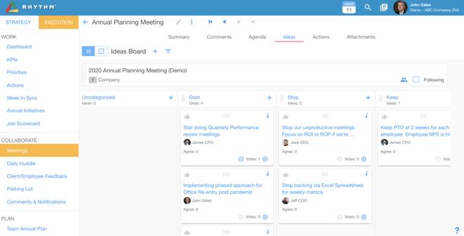 team idea planning