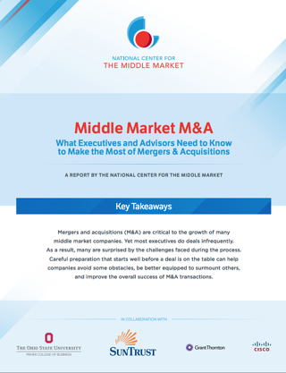 national center for the middle market M&A key findings