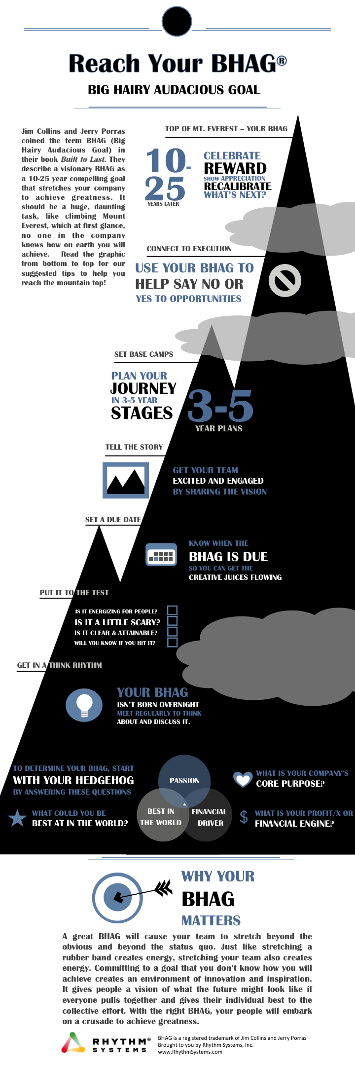 Reach Your BHAG infographic Big Hairy Audacious Goal